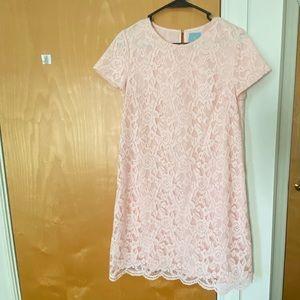 Light Pink Lace Shift Dress